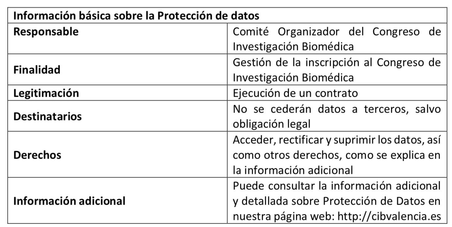 Cláusula protección de datos